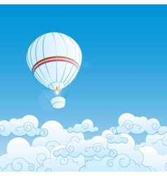 with air balloons vector image