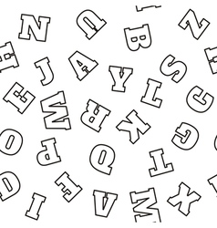 Alphabet seamless pattern letters vector image vector image