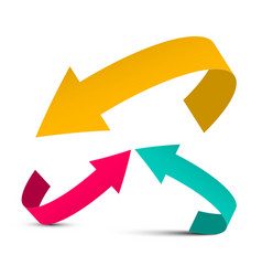 arrows yellow red and blue arrow vector image