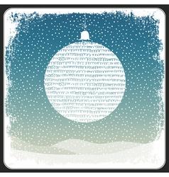 christmas ball vintage copyspace design vector image
