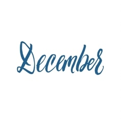 December Hand Drawn Calligraphy vector image vector image