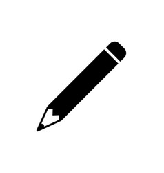 pencil icon in flat style vector image