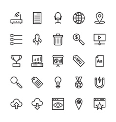 SEO and Marketing Outline Icons 4 vector image vector image