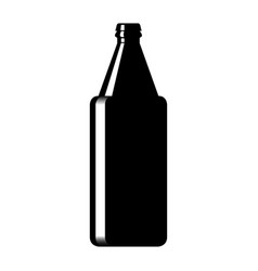 silhouette of a glass beer bottle vector image vector image