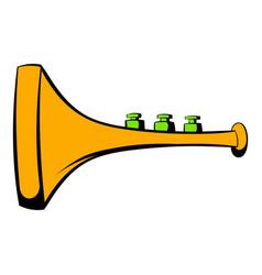 children plastic trumpet icon icon cartoon vector image