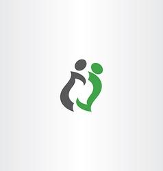 letter n people business logo vector image