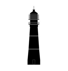 lighthouse the black color icon vector image vector image