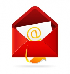 outbox mail icon vector image vector image