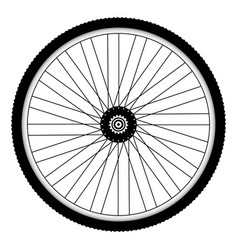 rear bicycle wheel with spiked bicycle tire vector image