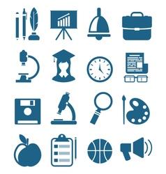 School Simple Icons vector image vector image