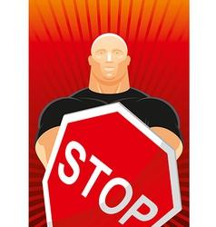 Security man vector image vector image