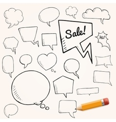 set of talk and think bubbles with yellow vector image vector image