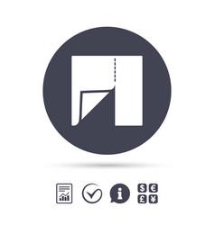 Textile cloth piece sign icon tailor symbol vector