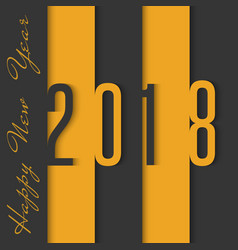 2018 happy new year material design black and vector image