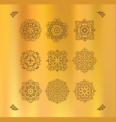 design elements graphic thai design on a gold vector image