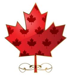 Fancy maple leaf vector image vector image