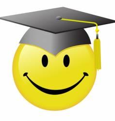 graduation smiley face vector image