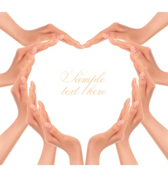 hands making a heart vector image vector image