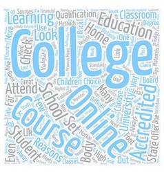 How to choose an online college course text vector