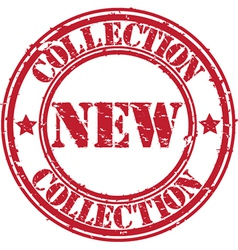 New collection stamp vector image