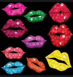 Woman gloss lip mouth kiss vector image vector image