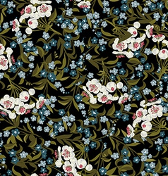 Abstract seamless floral pattern with vector image