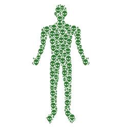 alien face man figure vector image