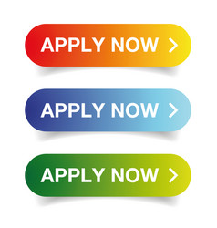 Apply now call to action button vector