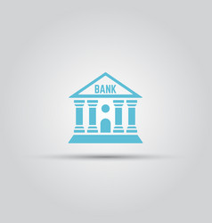 bank isolated colored icon vector image