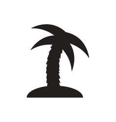 Black icon on white background palm tree vector