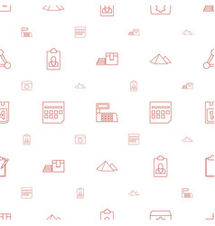 Business icons pattern seamless white background vector