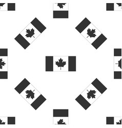 canada flag icon seamless pattern vector image
