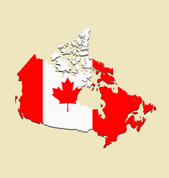 Canada map flag vector