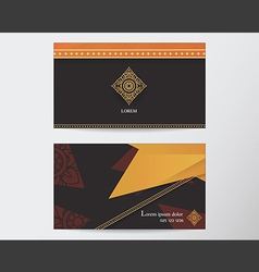 Card design template abstract creative Thai style vector