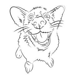 Cartoon image of happy dog vector