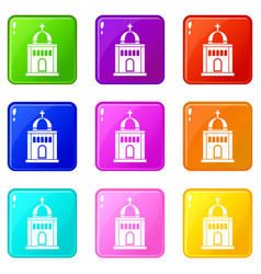 church set 9 vector image