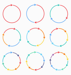 circle arrows for infographic template vector image
