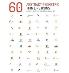 Collection of linear abstract logos vector
