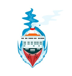 Container Ship Cargo Boat Retro vector image