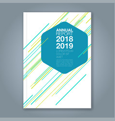 cover annual report 940 vector image