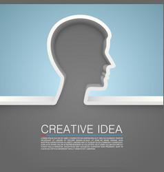 creative idea hand vector image