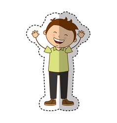 Cute father character icon vector