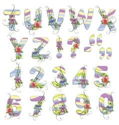 Cute spring alphabet vector