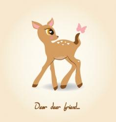dear deer vector image