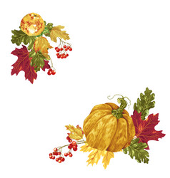 decorative corner frame elements in with autumn vector image