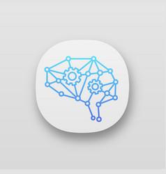 Deep learning ai app icon vector