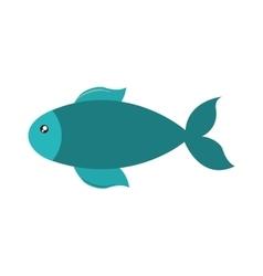 Fish cute animal sea little icon vector