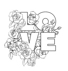 Floral lovely vector