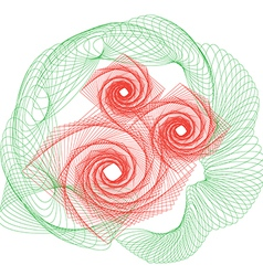 flowers rose outline drawing vector image