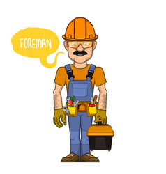 Foreman in a helmet vector